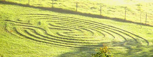 even Maleny's fabled Green Hills are decorated with unusual artistic flair
